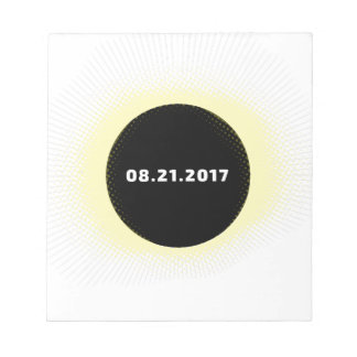 Bloc-note Éclipse solaire totale