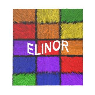 BLOC-NOTE ELINOR