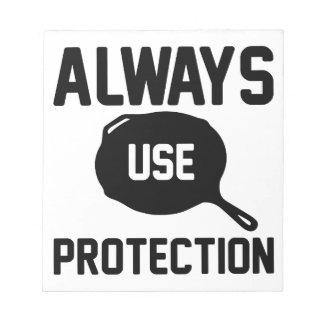 Bloc-note Employez toujours la protection