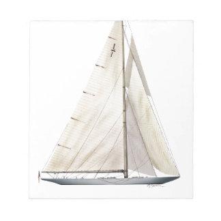 Bloc-note entreprise 1930 de yacht
