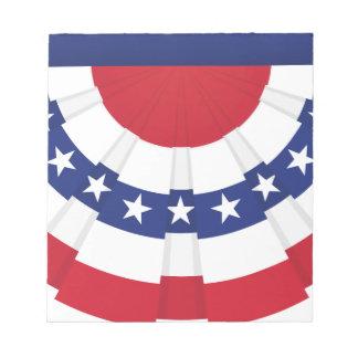 Bloc-note Étamine de drapeau américain