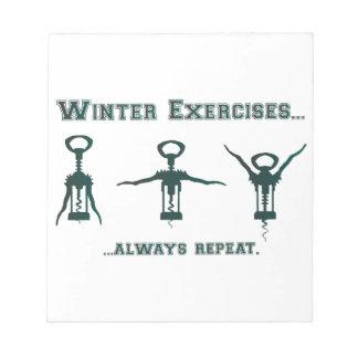 Bloc-note Exercices drôles d'hiver