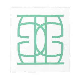 Bloc-note expérience une de typographie
