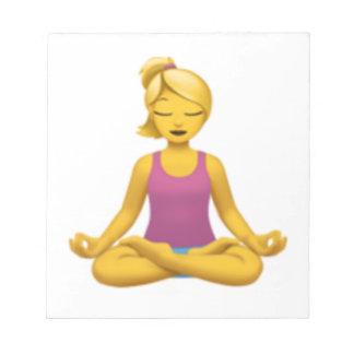 Bloc-note Femme en position de Lotus - Emoji