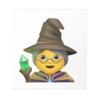 Bloc-note Femme Mage - Emoji