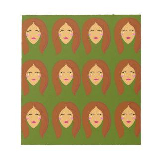 Bloc-note Femmes de santé/sur l'olive BG
