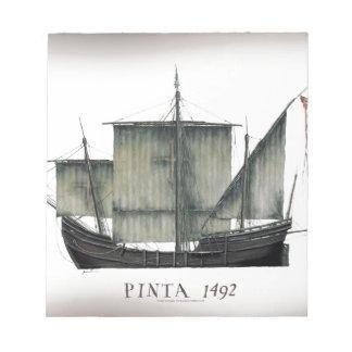 Bloc-note Fernandes 1492 élégants de Pinta