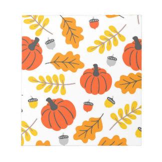 Bloc-note Feuille et citrouilles d'automne