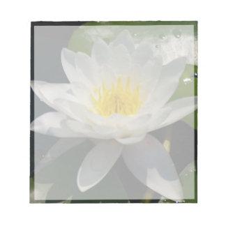 Bloc-note Fleur de Lotus blanc Waterllly