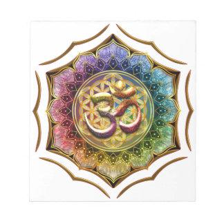Bloc-note Fleur de mandala de méditation de yoga de Lotus OM