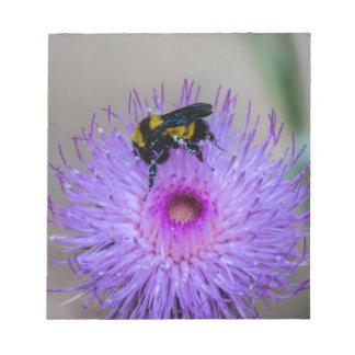 Bloc-note Fleurs sauvages de pollination d'abeille