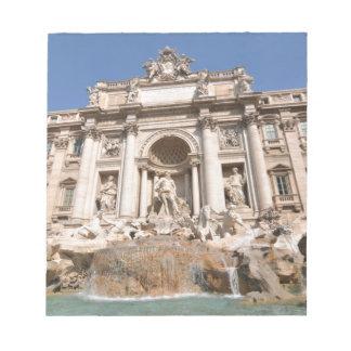 Bloc-note Fontana di Trevi à Rome, Italie