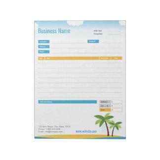 Bloc-note Forme d'ordre de thème ou bloc - notes tropicale