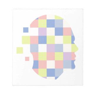Bloc-note Formes géométriques à l'intérieur de conception