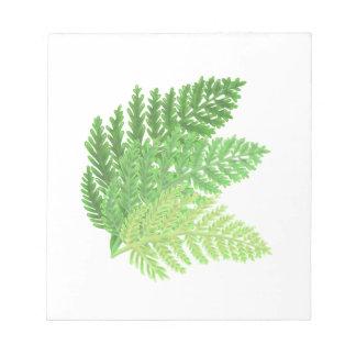 Bloc-note Fougères vertes