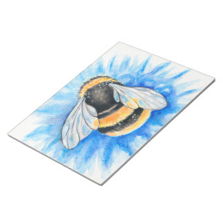Bloc-note Gaffez l'art d'aquarelle d'abeille