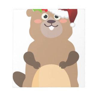Bloc-note Gopher de Noël du père noël