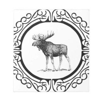 Bloc-note grand art d'orignaux de taureau