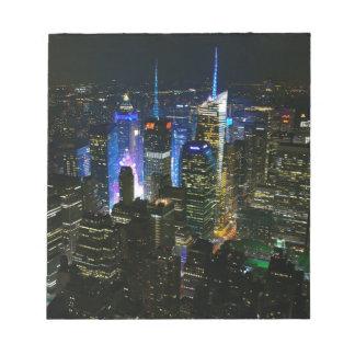Bloc-note Gratte-ciel de Manhattan Etats-Unis de nuit de New