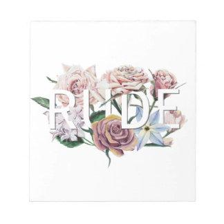 Bloc-note Grossier floral