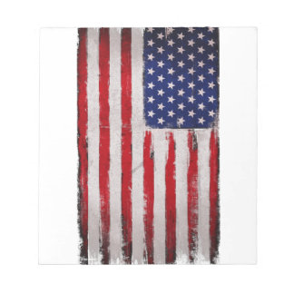 Bloc-note Grunge de drapeau des Etats-Unis