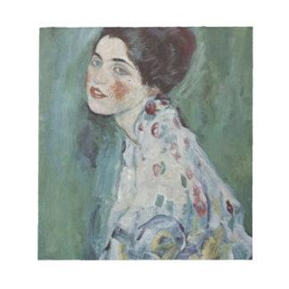 Bloc-note Gustav Klimt - portrait de Madame Painting