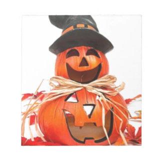 Bloc-note Halloween, chute, citrouilles d'automne
