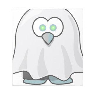 Bloc-note Halloween - effrayé peu de fantôme
