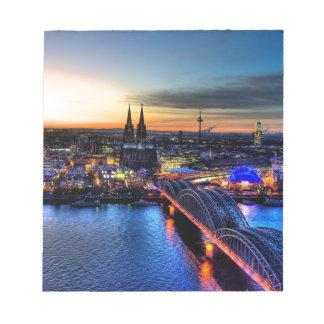 Bloc-note Horizon de Cologne Allemagne