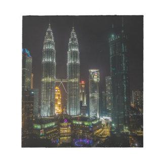 Bloc-note Horizon de Kuala Lumpar la nuit