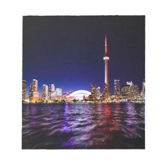 Bloc-note Horizon de nuit de Toronto