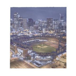 Bloc-note Horizon de ville de Denver et champ de Coors la