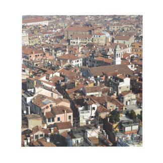 Bloc-note Horizon de ville de Venise