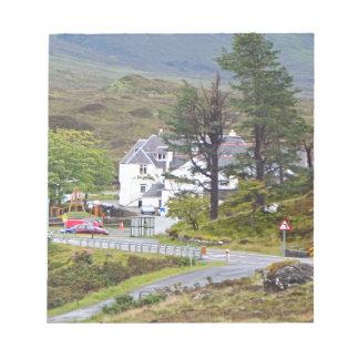 Bloc-note Hôtel de Sligachan, île de Skye, Ecosse