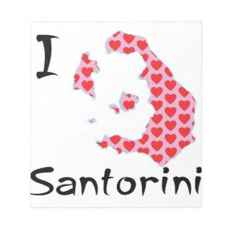Bloc-note I coeur Santorini
