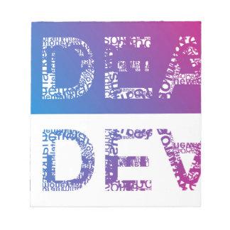 Bloc-note IDÉE - typographique
