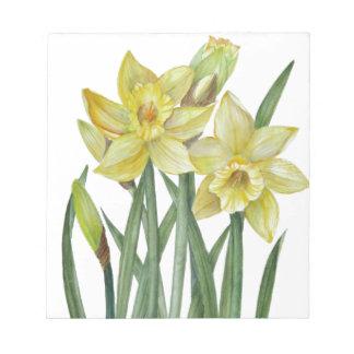 Bloc-note Illustration de portrait de fleur de jonquilles