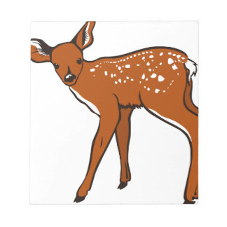 Bloc-note Illustration d'un cerf commun