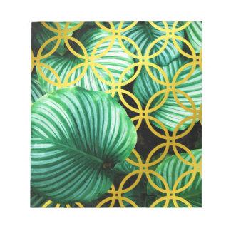 Bloc-note Illustration moderne tropicale géométrique de