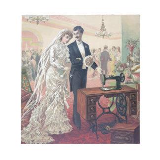 Bloc-note Illustration vintage de jeunes mariés