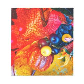 Bloc-note impression d'automne