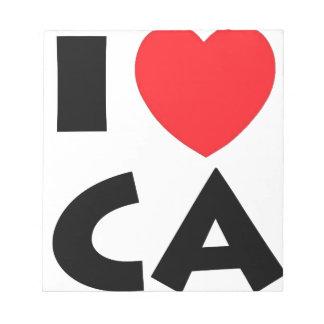 Bloc-note J'aime la Californie
