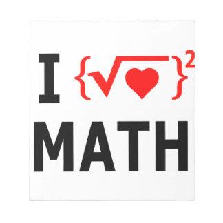 Bloc-note J'aime le blanc de maths