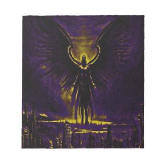 Bloc-note Jaune et pourpre angéliques de gardien