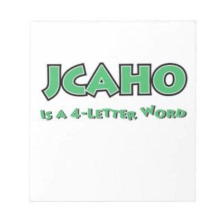 Bloc-note JCAHO est un mot 4-Letter