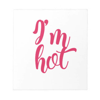 Bloc-note Je suis chaud