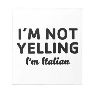 Bloc-note Je suis ne hurlant pas moi suis italien