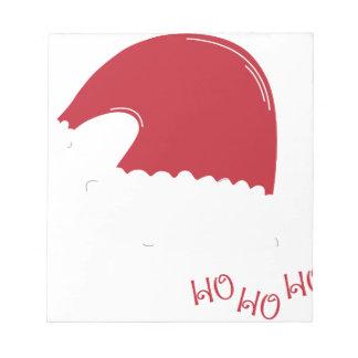 Bloc-note joie de vacances de Noël du père noël