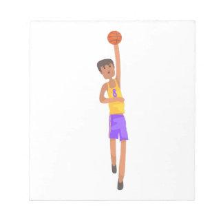 Bloc-note Joueur de basket avec l'autocollant d'action de
