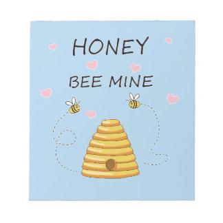 Bloc-note Jour de Valentines de mine d'abeille